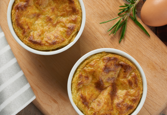 Cauliflower Broccoli Cheese Souffle