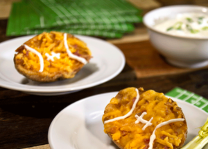 Loaded potato Skin Footballs