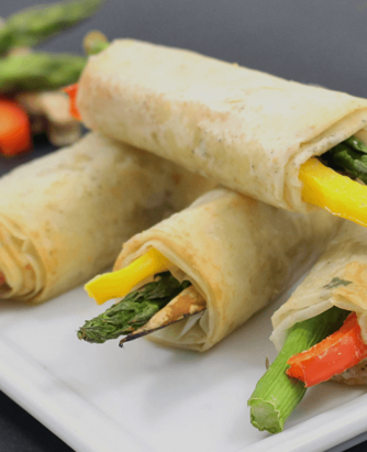 Roasted Veggie Phyllo Wraps