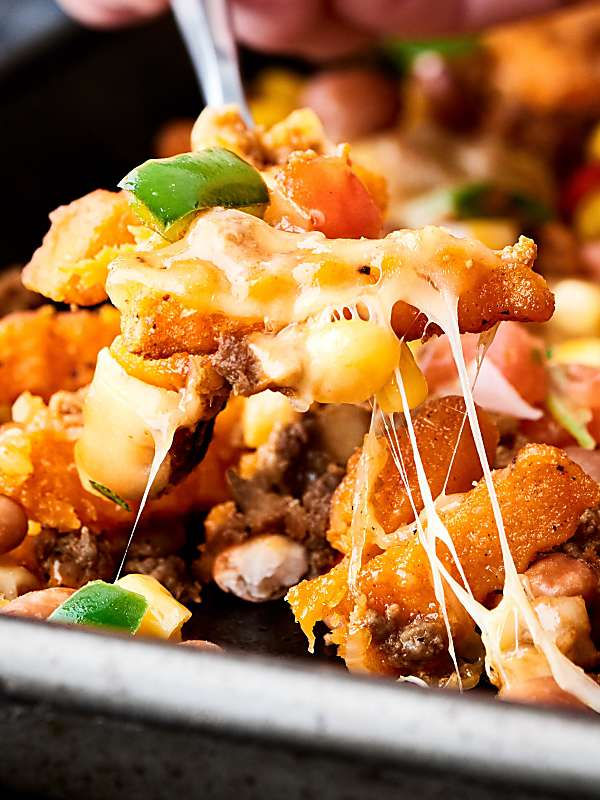 Mexican Sweet Potato Cheese Fries