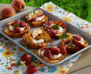 Daisy Grilled Pound Cake with Peaches and S