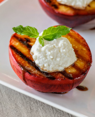 Galbani Ricotta Grilled Peaches