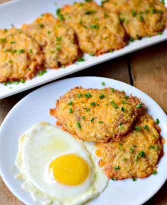 Cheesy Cauliflower Hash Browns