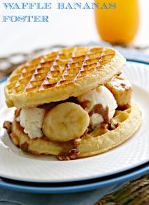Waffle Bananas Foster