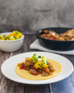 Steak Fajitas with Mango Salsa