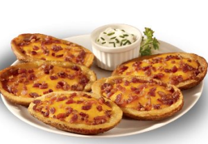 Cheddar and Bacon Potato Skins