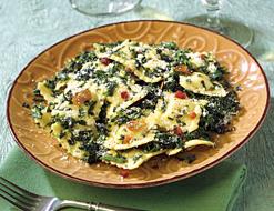 Ravioli with Spinach, Pancetta & Sage