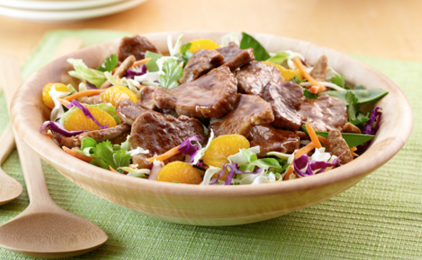 Asian Salad with Teriyaki Pork Tenderloin