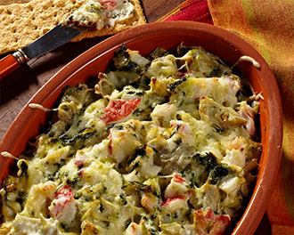 Warm Spinach, Artichoke & Crab Dip