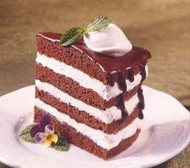 Chocolate Mint Layered Torte