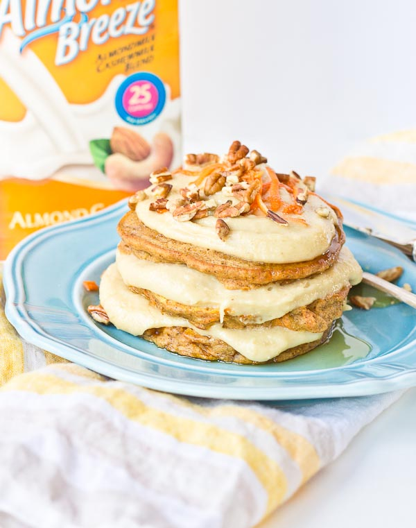 Carrot Cake Pancakes with Cashew Cream Frosting