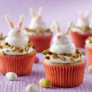 Bunny Pistachio Cupcakes