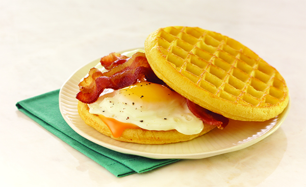 Eggo's Bacon, Egg and Cheese Sandwich
