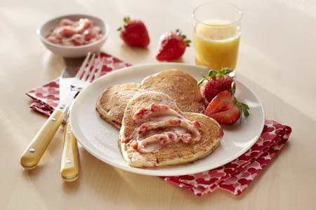 LOL Strawberries and Cream Pancakes