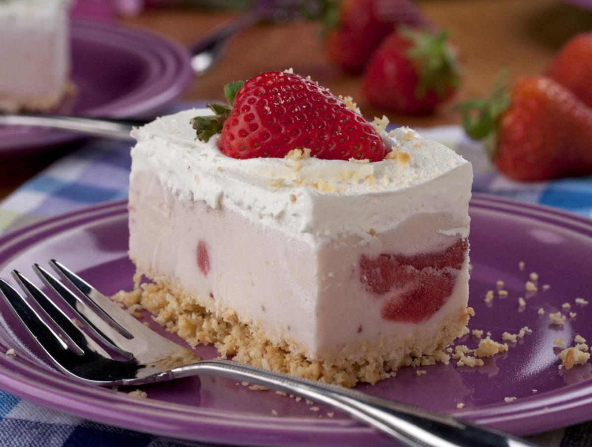 Berry Cheesecake Ice Cream Squares