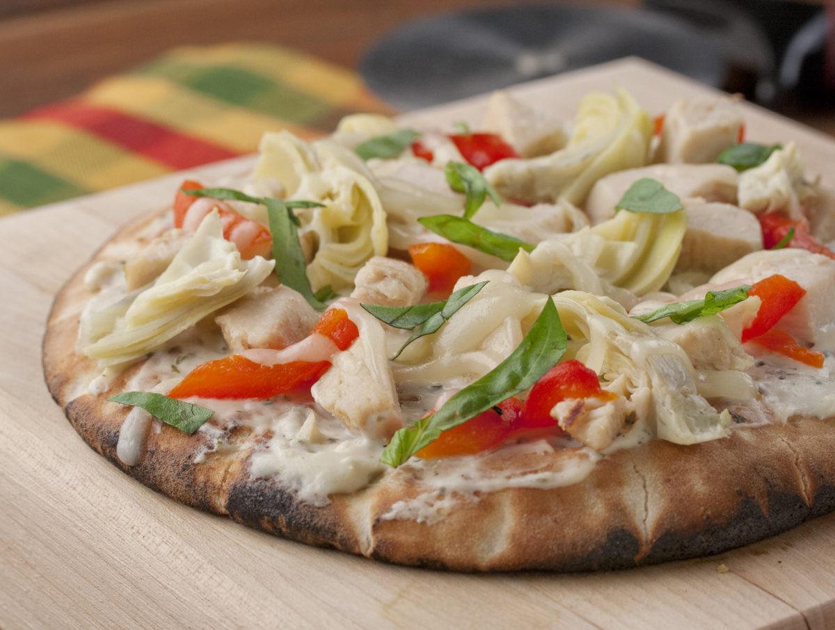 Grilled Mediterranean Pizza
