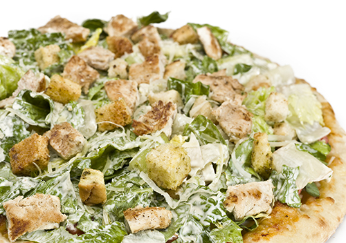 Grilled Chicken Caesar Salad Pizza Easy Home Meals