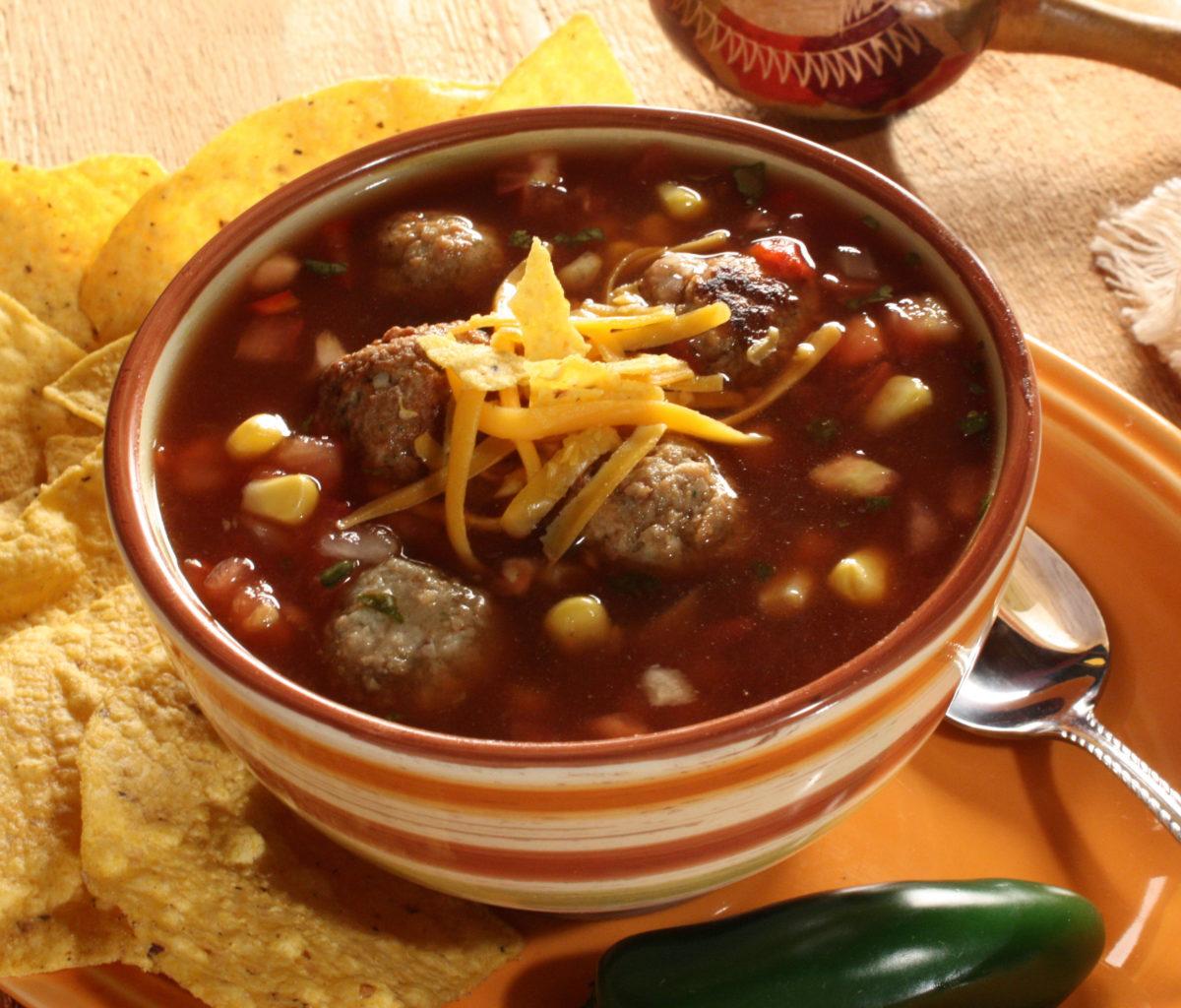 MFTK Southwestern Meatball Soup