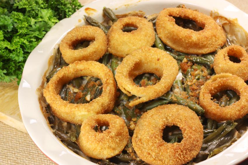 Onion Rings Green Bean Casserole