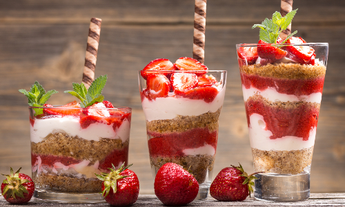 Image result for images of strawberry parfait