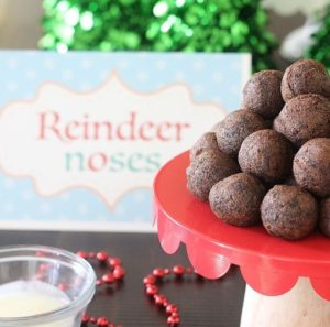 Reindeer Noses Donut Holes