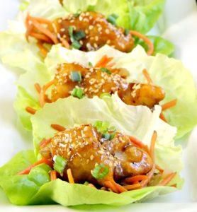 general tsos chicken lettuce wraps