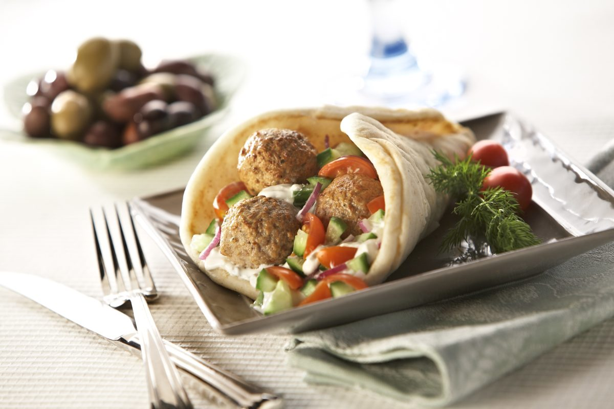 Turkey Meatball Gyro