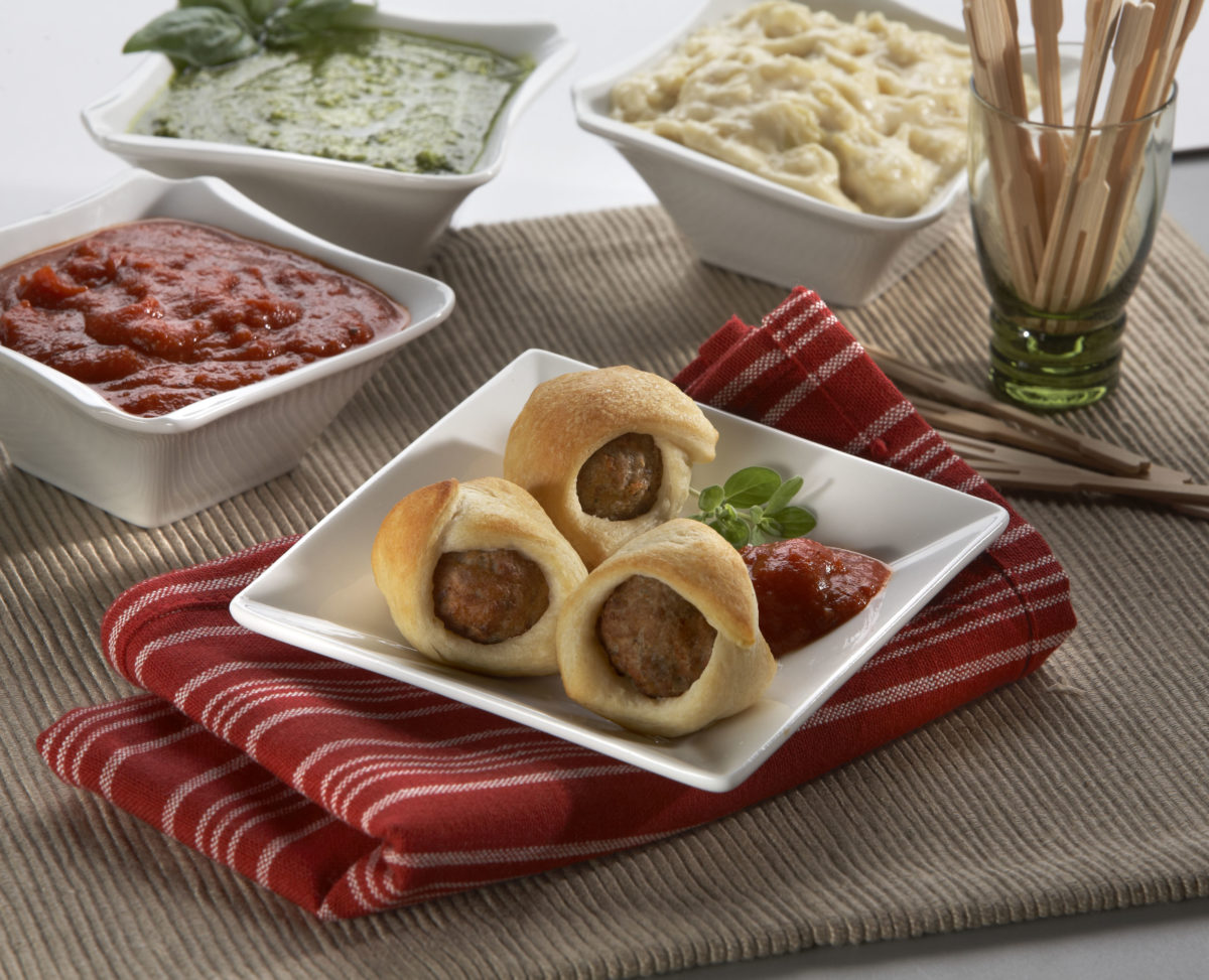 Crescent Wrapped Meatballs