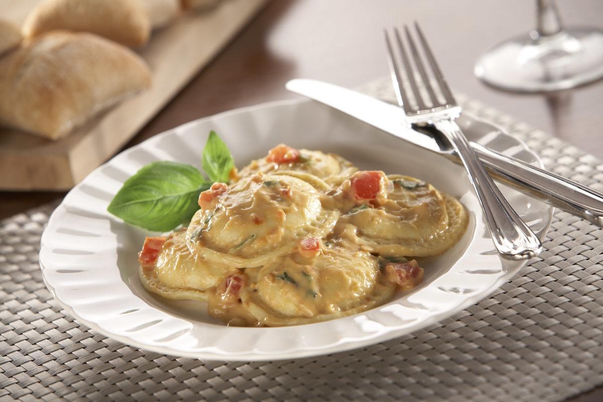 Tomato Basil Cream Ravioli