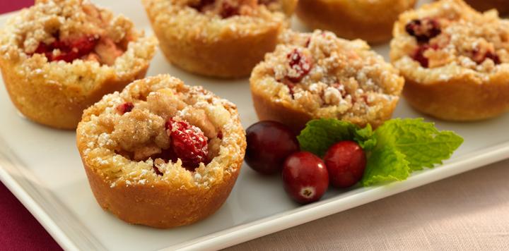 mini cranberry apple tart