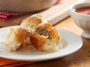 Pillsbury Cheesy Meatball Biscuit Bombs