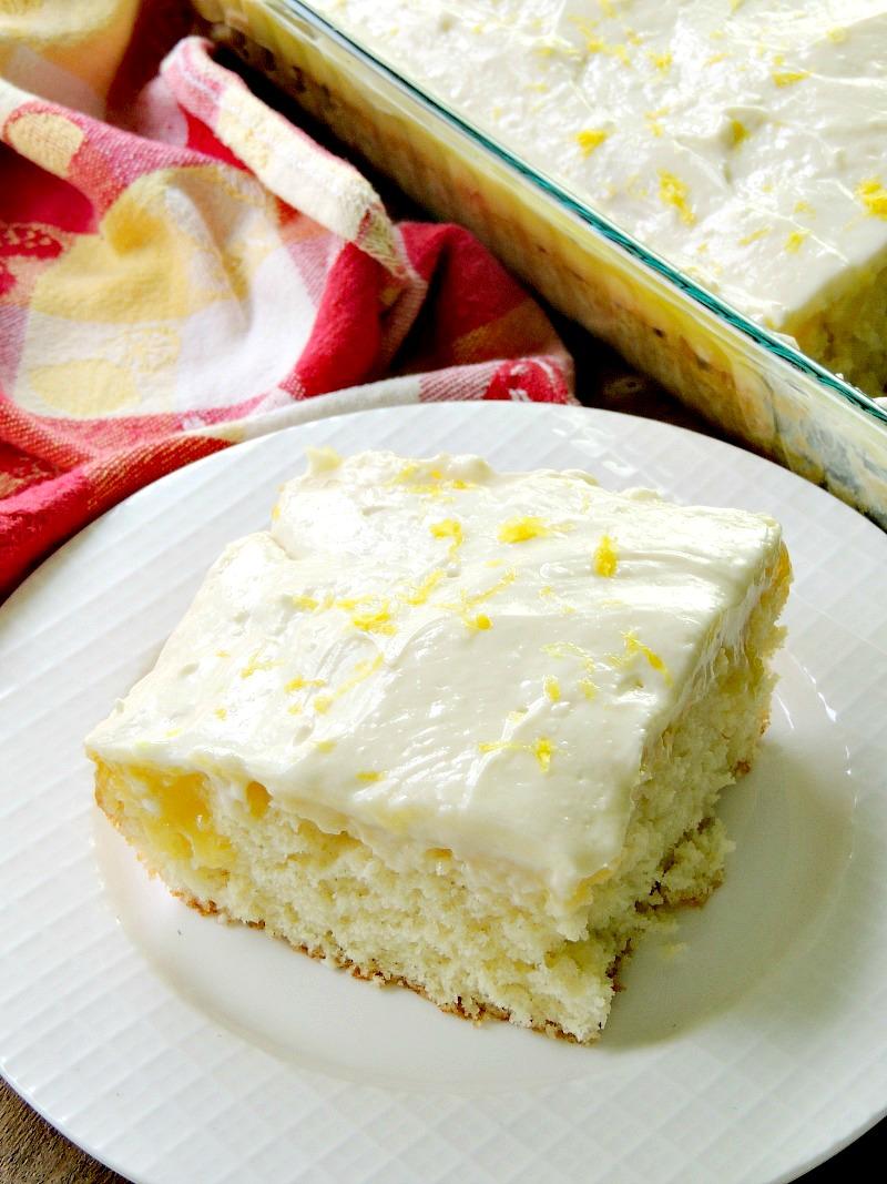 Sunshine Lemon Poke Cake