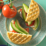 avocado tomato waffle grilled cheese