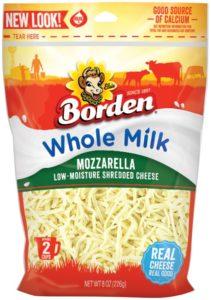 Borden® Cheese Whole-Milk Mozzarella Shreds