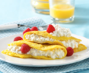 Open-Face Fruit and Cheese Omelette