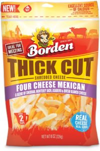 Borden® Cheese Four Cheese Mexican Thick Cut shreds