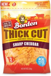 Borden® Cheese Thick Cut Sharp Cheddar Shreds