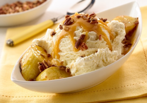 Breyers Grilled Bananas and Pecan Sundaes