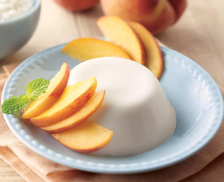 Peachy Panna Cotta