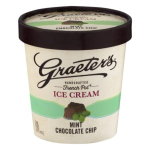 Graeter's Mint Chocolate Chip Ice