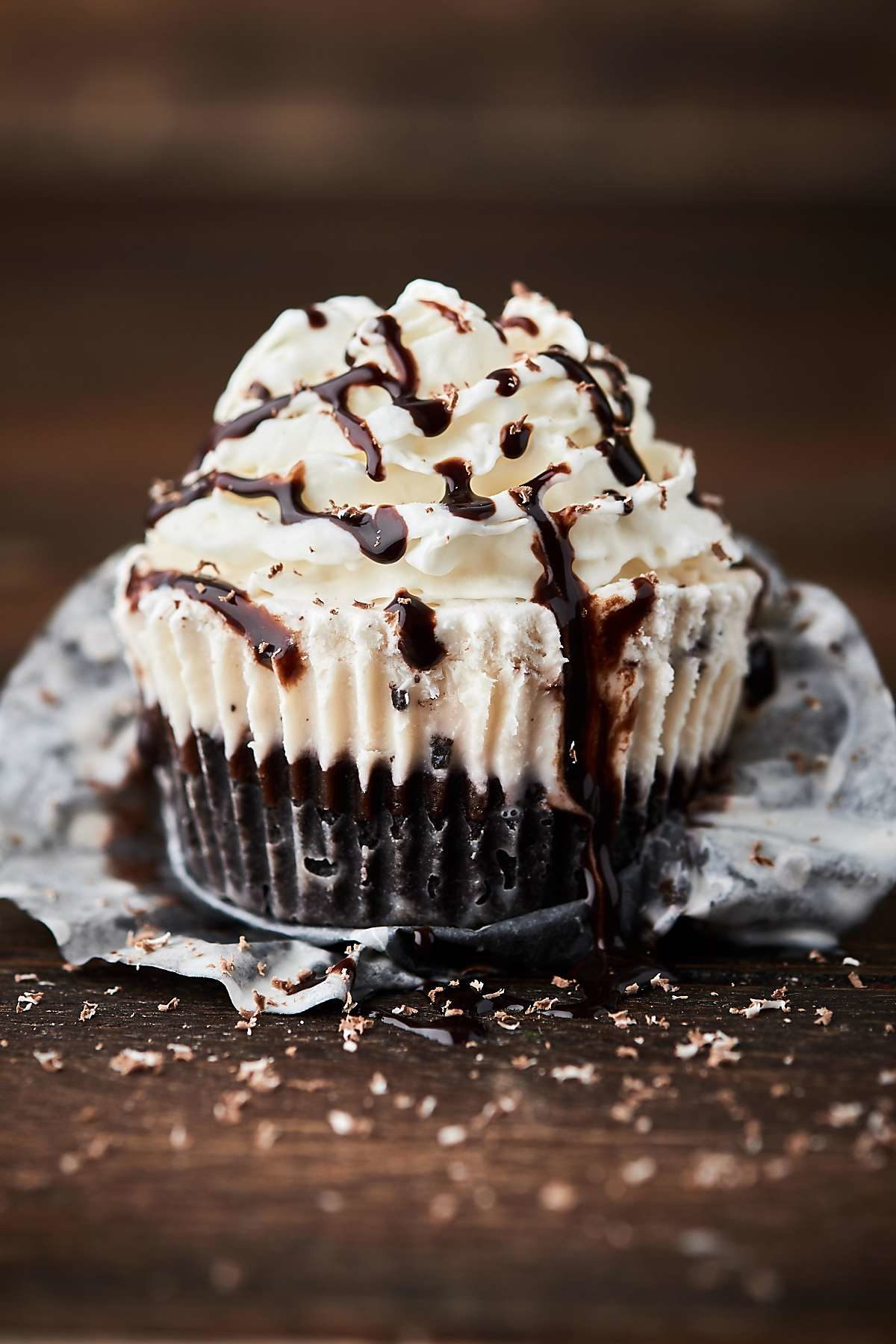 Mint Chocolate Ice Cream Cupcakes