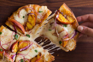 Pepper Jack and Grilled Peach Pizza