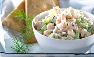 Arla Shrimp Salad with Pita