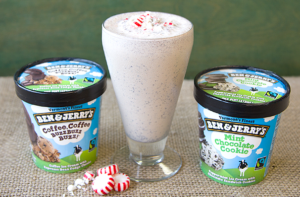 Ben and Jerry Peppermint Mocha Milkshake