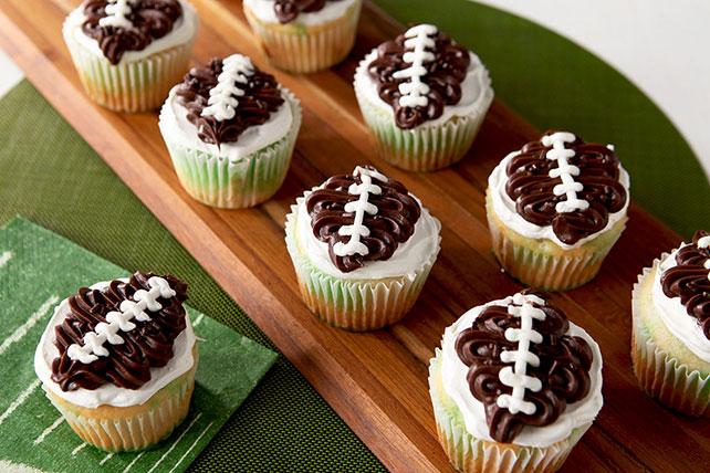Cool Whip Touchdown JellO Poke Cupcakes