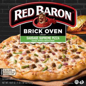 Red Baron Brick Oven Sausage Supreme Pizza