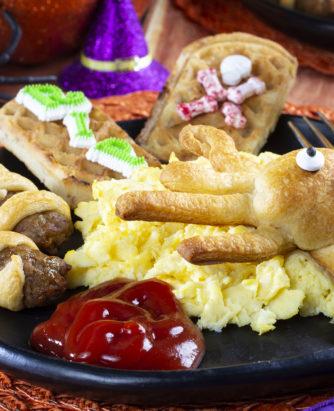 Spooktacular Breakfast Plate