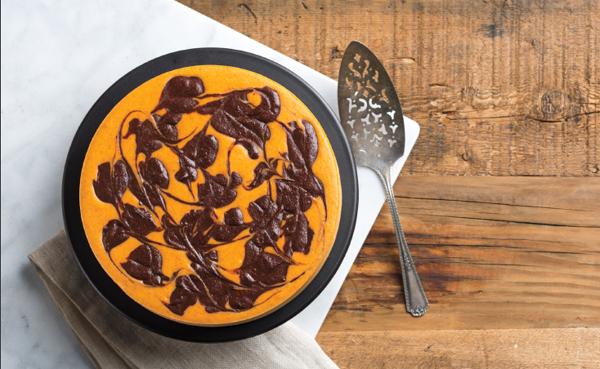 Best Yet Pumpkin Swirl Chocolate Cheesecake