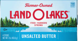 Land O Lakes Unsalted Butter carton
