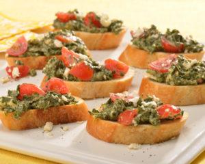 Bruschetta Spinach Bites